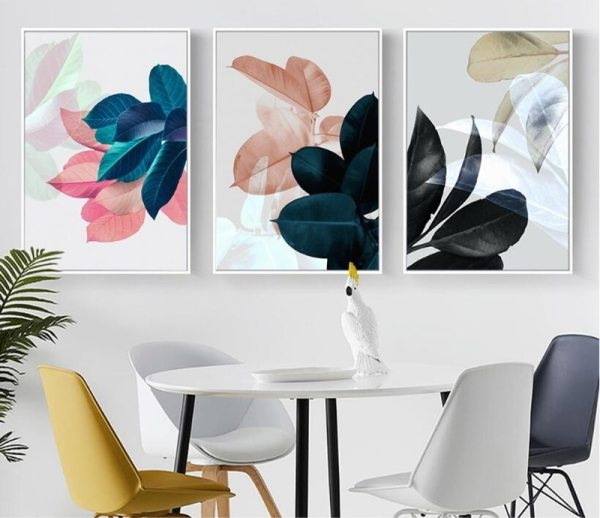 Colorful Leaves Wall Pictures for Living Room Home Decoration Nordic Plants Poster Wall Art Canvas Painting 3 Colorful Leaves Wall Pictures for Living Room Home Decoration Nordic Plants Poster Wall Art Canvas Painting Posters and Prints