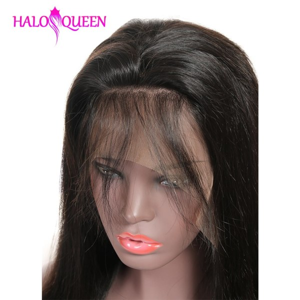 HALOQUEEN Human Hair Wigs Straight Pre Plucked Hairline Baby Hair 8 28 Inch Remy Human indian 1 HALOQUEEN Human Hair Wigs Straight Pre Plucked Hairline Baby Hair 8- 28 Inch Remy Human indian Hair Wigs 13X4 Lace Closure Wigs