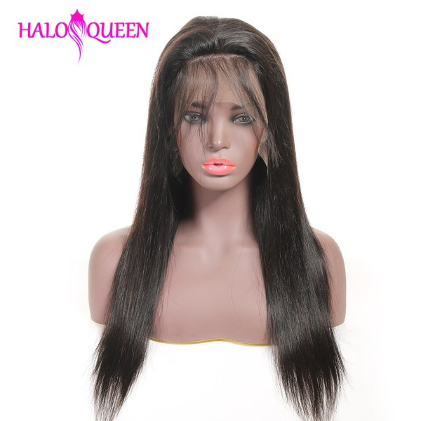 HALOQUEEN Human Hair Wigs Straight Pre Plucked Hairline Baby Hair 8 28 Inch Remy Human indian HALOQUEEN Human Hair Wigs Straight Pre Plucked Hairline Baby Hair 8- 28 Inch Remy Human indian Hair Wigs 13X4 Lace Closure Wigs