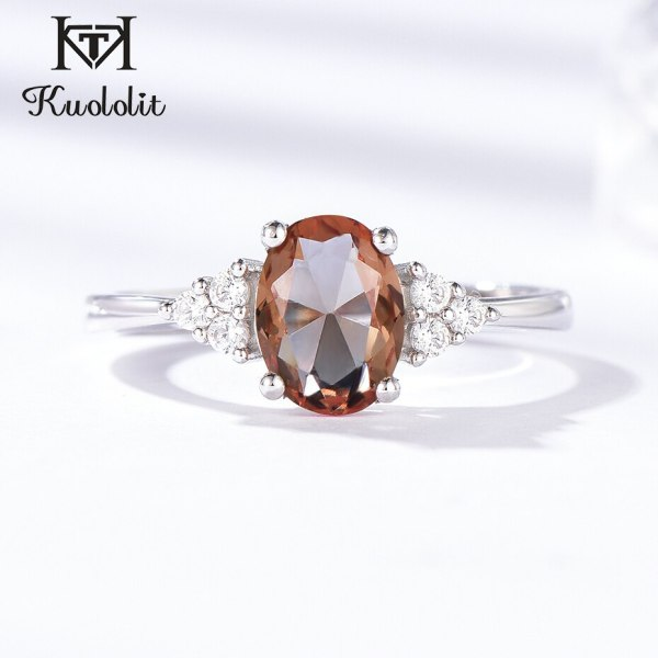 Kuololit Diaspore Zultanite Gemstone Ring for Women Solid 925 Sterling Silver Color Change Ring for Wedding 1 Kuololit Diaspore Zultanite Gemstone Ring for Women Solid 925 Sterling Silver Color Change Ring for Wedding Engagement Jewelry