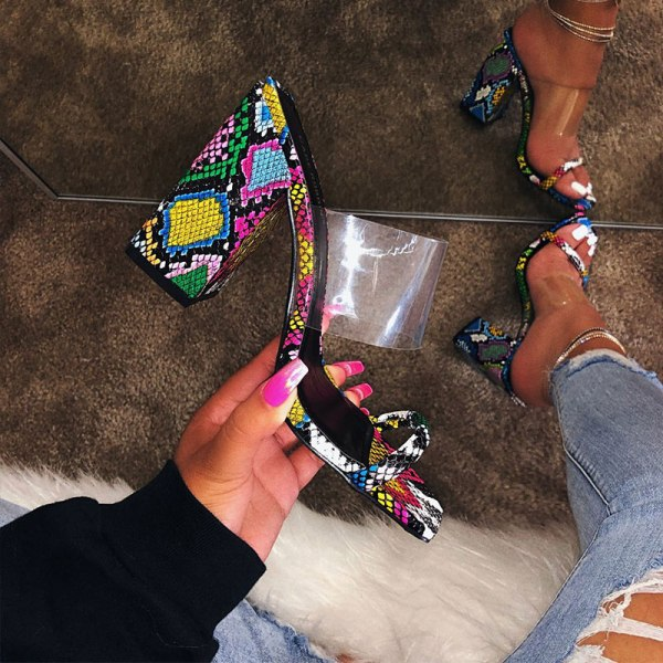 MCCKLE Women Transparent Sandals Ladies High Heel Slippers Candy Color Open Toes Thick Heel Fashion Female 4 MCCKLE Women Transparent Sandals Ladies High Heel Slippers Candy Color Open Toes Thick Heel Fashion Female Slides Summer Shoes