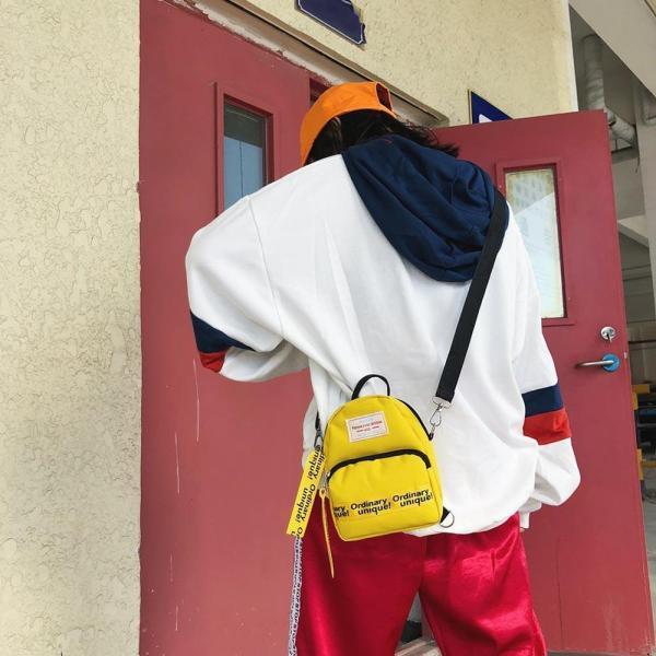 Multi Use Teenage Girls Mini Backpack Nylon Letter Print Shoulder Crossbody Bags Casual Women Backpack Mochilas 1 Multi-Use Teenage Girls Mini Backpack Nylon Letter Print Shoulder Crossbody Bags Casual Women Backpack Mochilas Mujer