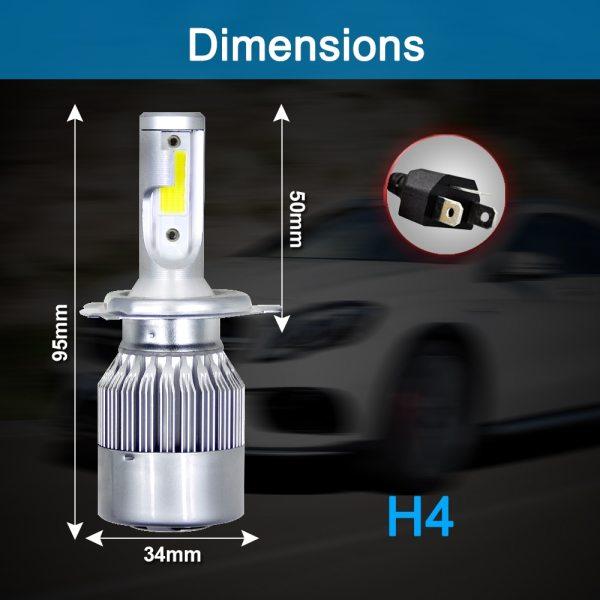 Muxall 8000LM Pair LED Headlight Bulbs 72W Auto Lights Car H7 LED H1 H3 H27 H11 1 Muxall 8000LM/Pair LED Headlight Bulbs 72W Auto Lights Car H7 LED H1 H3 H27 H11 HB3 HB4 H4 H13 9004 9007 Car Styling Lamp