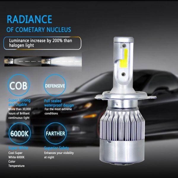 Muxall 8000LM Pair LED Headlight Bulbs 72W Auto Lights Car H7 LED H1 H3 H27 H11 3 Muxall 8000LM/Pair LED Headlight Bulbs 72W Auto Lights Car H7 LED H1 H3 H27 H11 HB3 HB4 H4 H13 9004 9007 Car Styling Lamp