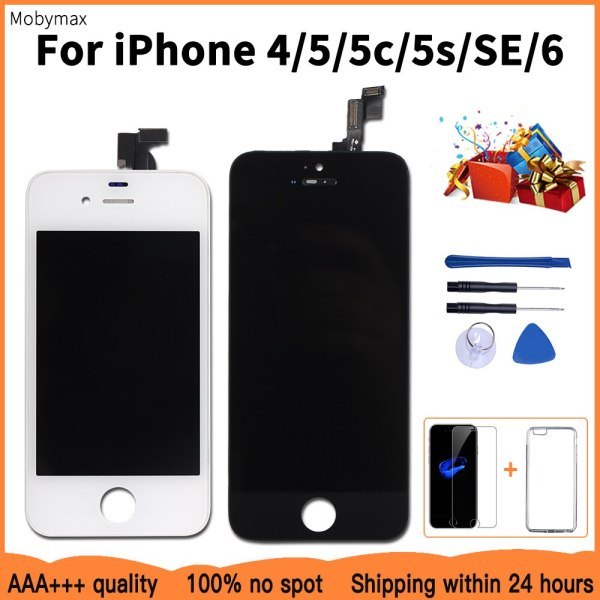 Promotion LCD Display For iPhone 5 5c 5s SE Touch Screen Replacement for iPhone 4 6 Promotion LCD Display For iPhone 5 5c 5s SE Touch Screen Replacement for iPhone 4 6+Tempered Glass+Tools+TPU Case 100% AAA+++
