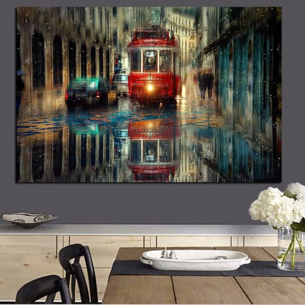 Retro City Street Landscape Oil Painting on Canvas Art Posters and Prints Scandinavian Wall Picture for 1 Retro City Street Landscape Oil Painting on Canvas Art Posters and Prints Scandinavian Wall Picture for Living Room Cudros Decor