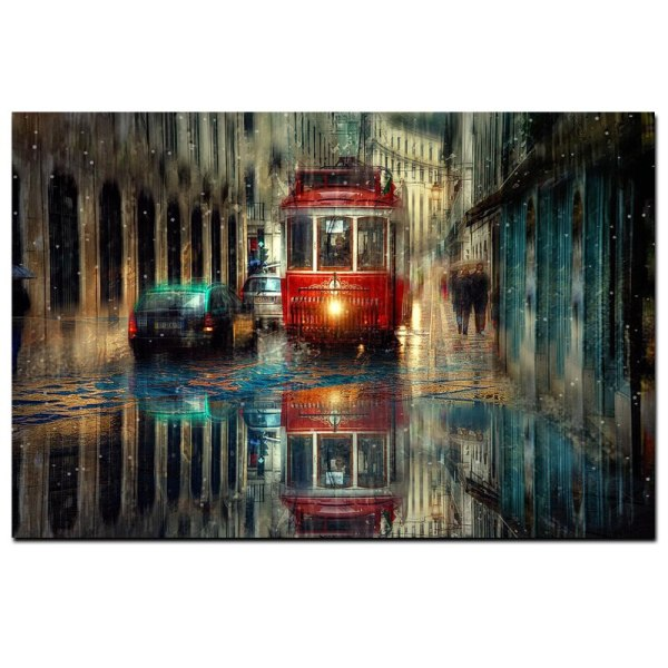 Retro City Street Landscape Oil Painting on Canvas Art Posters and Prints Scandinavian Wall Picture for 2 Retro City Street Landscape Oil Painting on Canvas Art Posters and Prints Scandinavian Wall Picture for Living Room Cudros Decor