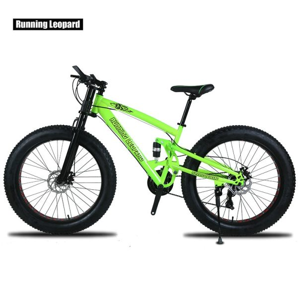 Running Leopard 7 21 24 Speed 26x4 0 Fat bike Mountain Bike Snow Bicycle Shock Suspension 1 Running Leopard 7/21/24 Speed 26x4.0 Fat bike Mountain Bike Snow Bicycle Shock Suspension Fork Free delivery Russia bicycle