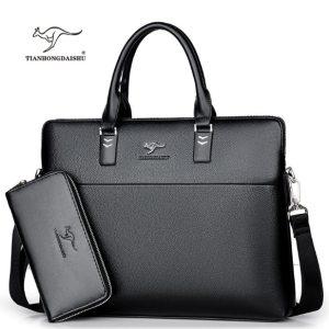 TIANHONGDAISHU Men Casual Briefcase Business Shoulder Leather Messenger Bags Computer Laptop Handbag Men s Travel Bags Innrech Market.com