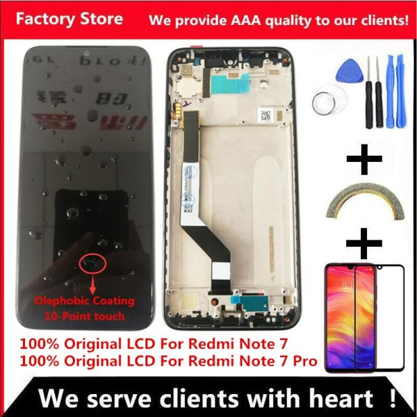 10 Touch Original LCD For Xiaomi Redmi Note 7 LCD With Frame Display Screen Replacement For 10-Touch Original LCD For Xiaomi Redmi Note 7 LCD With Frame Display Screen Replacement For Redmi Note7 Pro LCD Display Screen