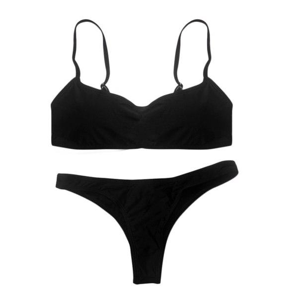 2019 New Summer Women Solid Bikini Set Push up UnPadded Bra Swimsuit Swimwear Triangle Bather Suit 3 2019 New Summer Women Solid Bikini Set Push-up UnPadded Bra Swimsuit Swimwear Triangle Bather Suit Swimming Suit biquini
