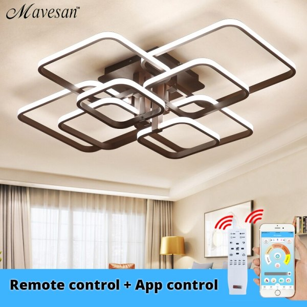 Acylic Ceiling Lights Square Rings For Living Room Bedroom Home AC85 265V Modern Led Ceiling Lamp Acylic Ceiling Lights Square Rings For Living Room Bedroom Home AC85-265V Modern Led Ceiling Lamp Fixtures lustre plafonnier