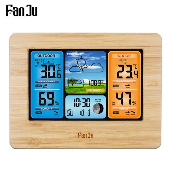 FanJu FJ3373 Weather Station Digital Thermometer Hygrometer Wireless Sensor Forecast Temperature Watch Wall Desk Alarm Clock FanJu FJ3373 Weather Station Digital Thermometer Hygrometer Wireless Sensor Forecast Temperature Watch Wall Desk Alarm Clock