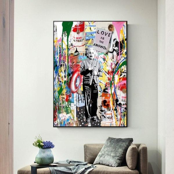 Follow Your Dreams Street Wall graffiti Art Canvas Paintings Abstract Einstein Pop Art Canvas Prints For 4 Follow Your Dreams Street Wall graffiti Art Canvas Paintings Abstract Einstein Pop Art Canvas Prints For Kids Room Cuadros Decor