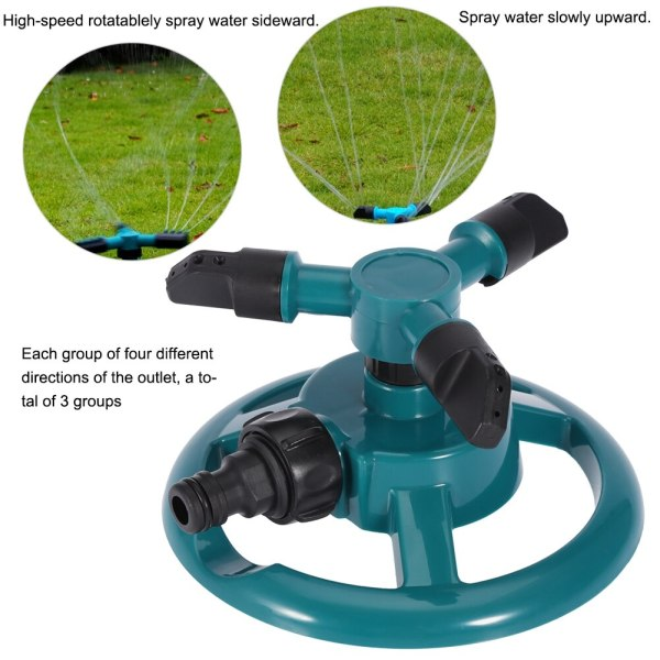 Garden Sprinklers Automatic Watering Grass Lawn 360 Degree 3 Nozzle Circle Rotating Irrigation System 1 Garden Sprinklers Automatic Watering Grass Lawn 360 Degree 3 Nozzle Circle Rotating Irrigation System