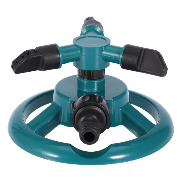 Garden Sprinklers Automatic Watering Grass Lawn 360 Degree 3 Nozzle Circle Rotating Irrigation System Garden Sprinklers Automatic Watering Grass Lawn 360 Degree 3 Nozzle Circle Rotating Irrigation System