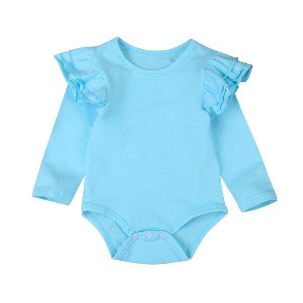 Infant Baby Girls Solid Ruffles Cotton Romper Long Sleeve Outfits Jumpsuit Clothes 3 Infant Baby Girls Solid Ruffles Cotton Romper Long Sleeve Outfits Jumpsuit Clothes