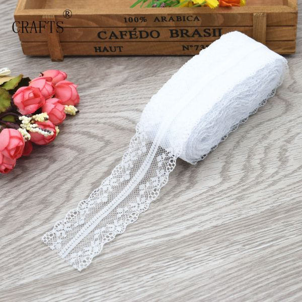 New 10 yards beautiful lace ribbon 3 8 cm wide DIY decoration accessories holiday decorations 4 New! 10 yards beautiful lace ribbon, 3.8 cm wide, DIY decoration accessories, holiday decorations