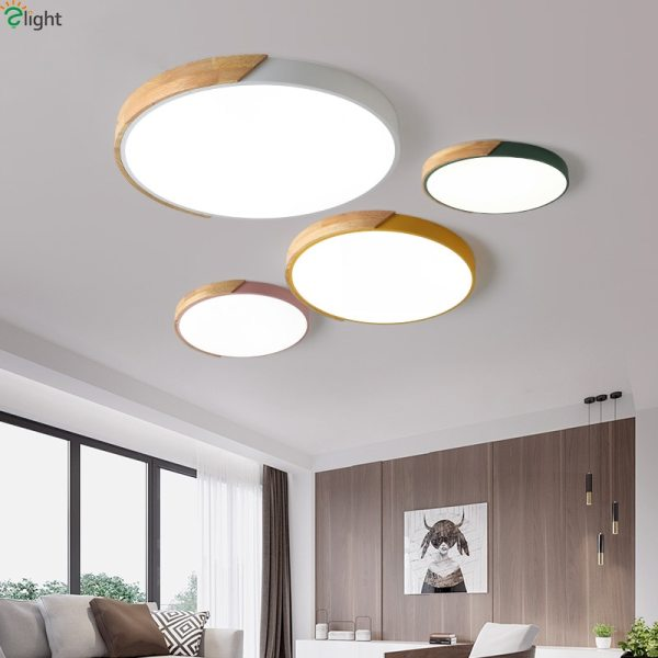 Nordic Oak App Dimmable Led Ceiling Lights Living Room Round Multicolor Alloy Led Ceiling Lamp Bedroom 2 Nordic Oak App Dimmable Led Ceiling Lights Living Room Round Multicolor Alloy Led Ceiling Lamp Bedroom Led Ceiling Light Fixture
