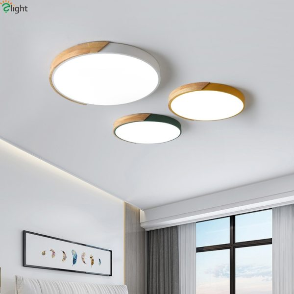 Nordic Oak App Dimmable Led Ceiling Lights Living Room Round Multicolor Alloy Led Ceiling Lamp Bedroom 3 Nordic Oak App Dimmable Led Ceiling Lights Living Room Round Multicolor Alloy Led Ceiling Lamp Bedroom Led Ceiling Light Fixture
