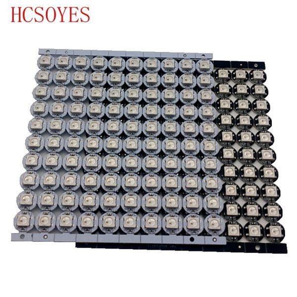 10 100 pcs WS2812B LED Individually addressable WS2811 IC rgb white black 2812b led heatsink 10mm 10~100 pcs WS2812B LED Individually addressable WS2811 IC rgb white/black 2812b led heatsink (10mm*3mm) 5050 SMD RGB Built-in