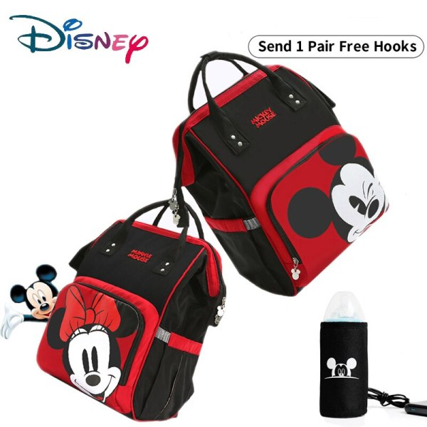 Disney Cute Minnie Mickey Red Diaper Bag Waterproof Baby Care Mummy Bag Maternity Backpack Large Nappy Disney Cute Minnie Mickey Red Diaper Bag Waterproof/Baby Care/Mummy Bag Maternity Backpack Large Nappy Bag Striped Bow Dot Smile