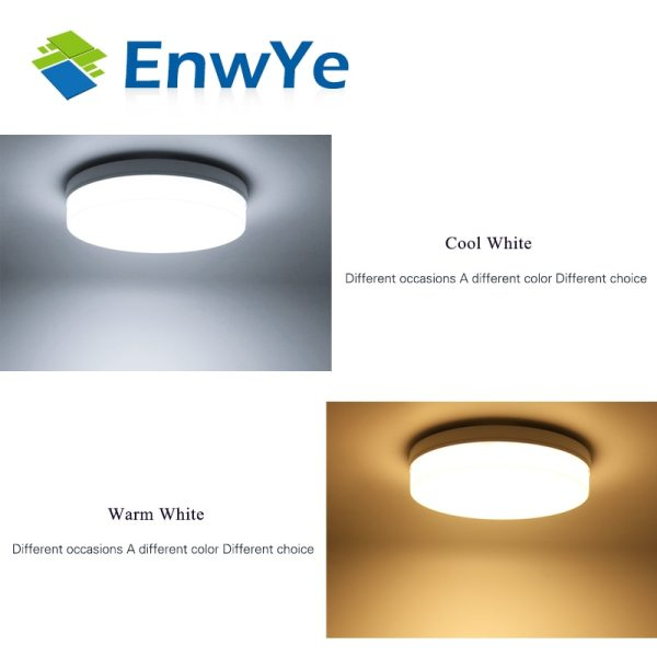 EnwYe 6W 9W 13W 18W 24W 36W 48W LED Circular Panel Light Surface Mounted led ceiling 5 EnwYe 6W 9W 13W 18W 24W 36W 48W LED Circular Panel Light Surface Mounted led ceiling light AC 85-265V lampada led lamp