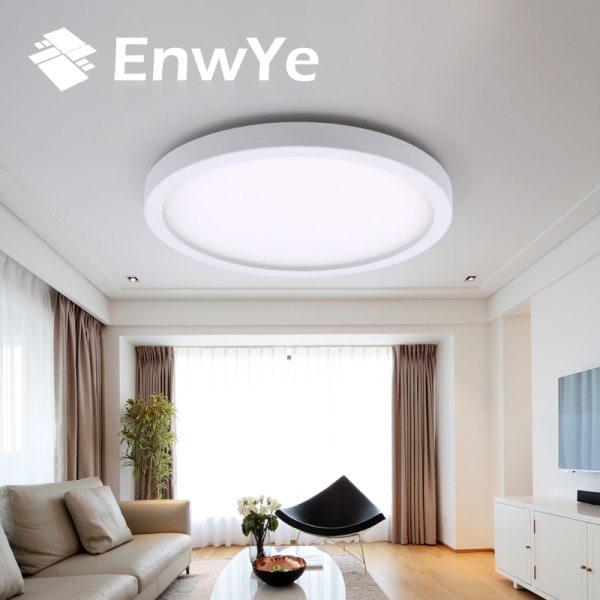 EnwYe 6W 9W 13W 18W 24W 36W 48W LED Circular Panel Light Surface Mounted led ceiling EnwYe 6W 9W 13W 18W 24W 36W 48W LED Circular Panel Light Surface Mounted led ceiling light AC 85-265V lampada led lamp