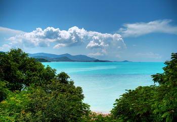 Viaggi in Thailandia - isola di Koh samui - mare e nuvole