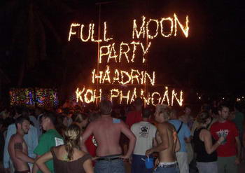 full moon party - vacanz e vita notturna Thailandia