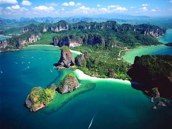 Vista aerea di Krabi