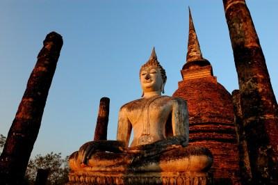Sukhothai, l'alba della felicità in Thailandia.