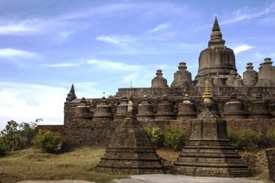 Shittaung templi di mrauk u myanmar birmania