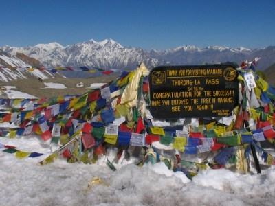 Thorung La passo nepal circuito dell'annapurna