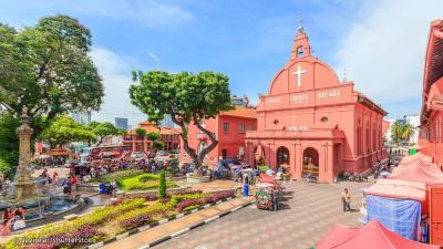 La rossa Town Square, centro culturale di Malacca