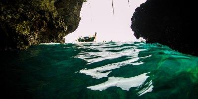 L'interno della grotta dello smeraldo