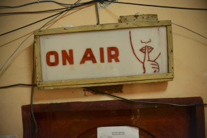 A sign at a radio station in Mogadishu, Somalia. Governments across Africa attempt to silence the media to control their populations and quash dissent, a trend which is becoming more evident in Southern Africa. Photo courtesy Tobin Jones/AU-UN IST/Flickr