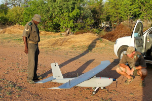Technology is employed to keep an eye on poachers and track the movements of wild animals over the vast areas of Africa's game parks. These include aerial drones, motion-triggered cameras and GPS chips implanted in animals. Photo courtesy Steve Roest/Wikimedia Commons. Available at: http://bit.ly/2orSPpp