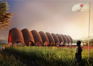 The Droneport project in Rwanda is a flagship development aiming to improve the procurement and distribution of vital provisions around the country. Image courtesy: Foster and Partners. Available at: http://bit.ly/2rWTcpZ