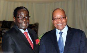 Picture of President Zuma and Robert Mugabe