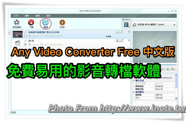 Any Video Converter Free 6.2.5 中文安裝版 (for Windows)