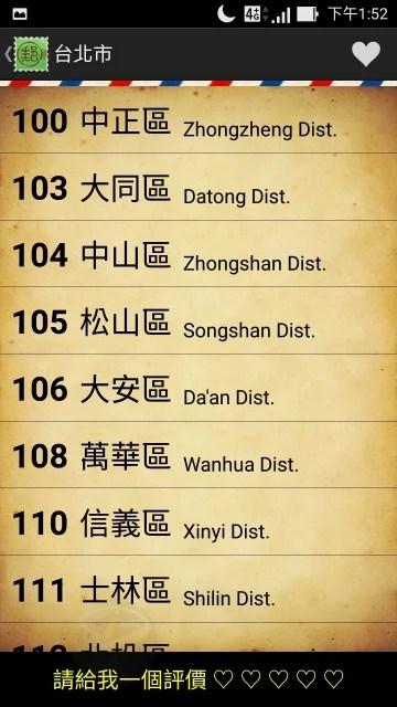 台灣郵遞區號-2