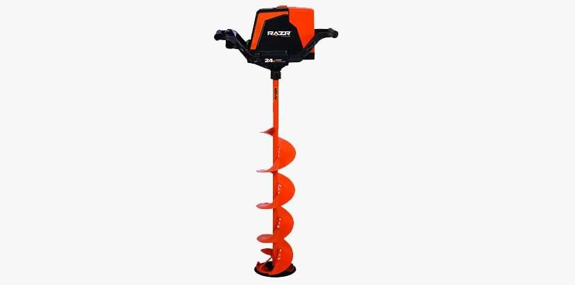 Razr Lithium Ice Auger with Reverse, 24V 8""