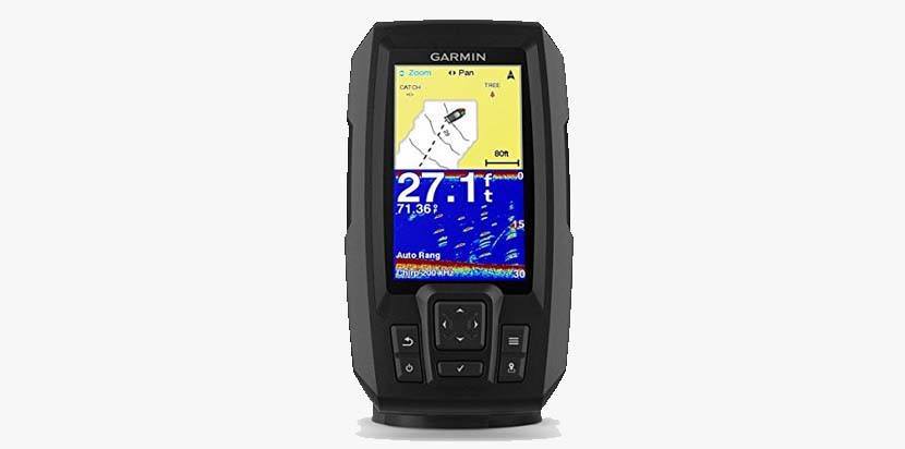 Garmin Striker Plus 4  Garmin Striker Plus 4 with Dual-Beam transducer