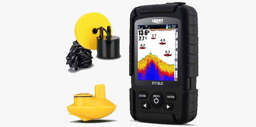 Lucky Fish Finder Portable 2 in 1 Wired & Wireless Fishing Sonar
