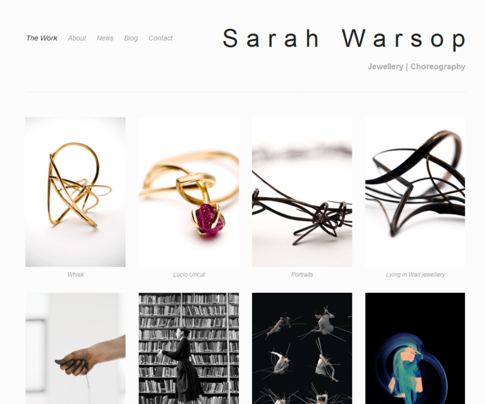 Sarah Warsop new website