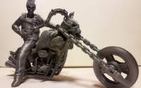 Ghost Rider 3D Model Tesla Aluminium Filament