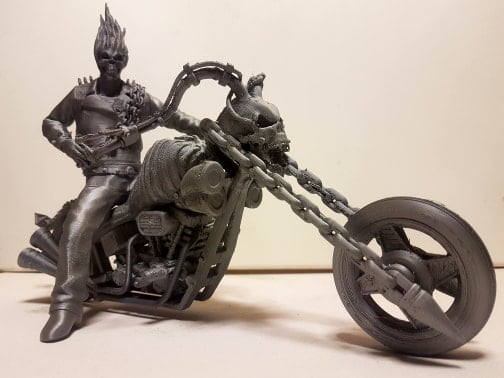 Ghost Rider 3D Model Tesla Aluminium Filament