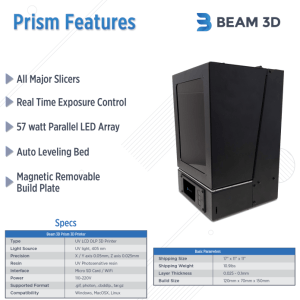 The Prism Resin 3D Printer - New Release