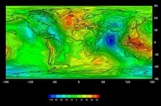 Cientistas fazem mapa da gravidade da Terra